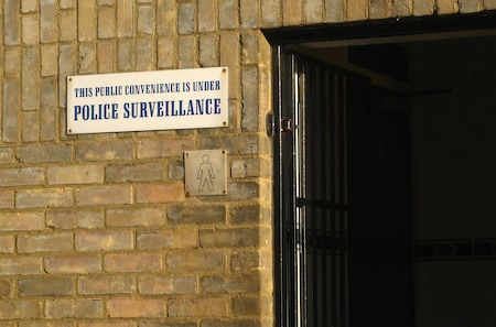 This public convenience is under police surveillance