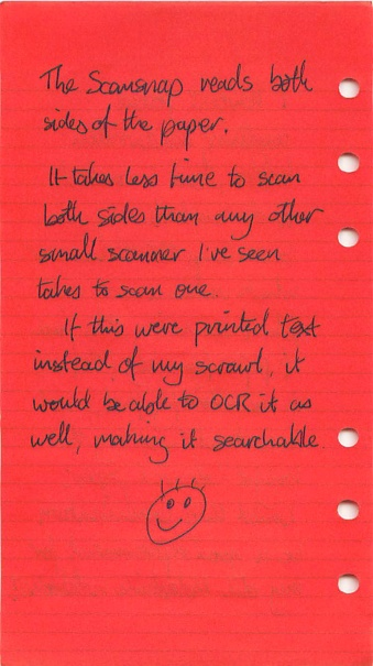 Scan of filofax page