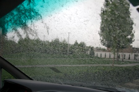 Post-rain windscreen