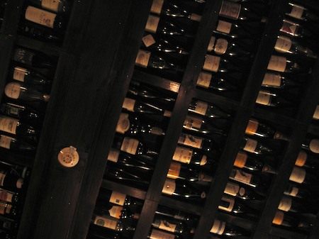 Backstreet Bistro wine-bottle ceiling