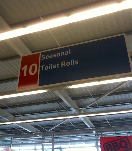 Seasonal toilet rolls