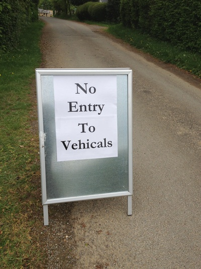 No entry to vehicals