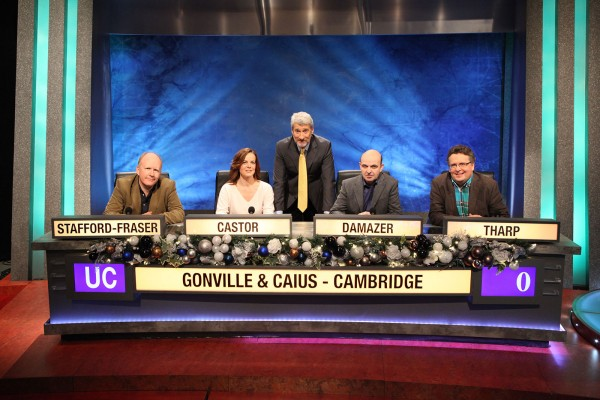 Christmas University Challenge Gonville & Caius with Jeremy Paxman