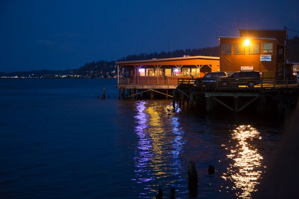 River lights, Astoria, Oregon