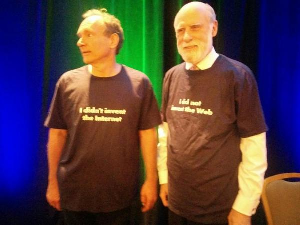 Tim Berners-Lee and Vint Cerf